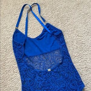 For Love And Lemons Other - For Love and Lemons blue lace bodysuit